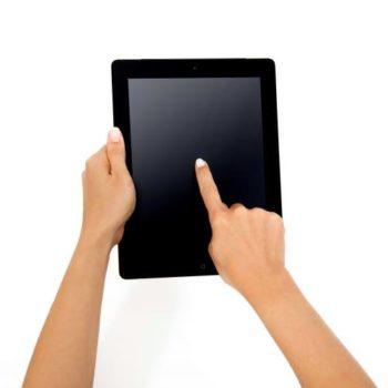 Iniciar a sessao com tablet